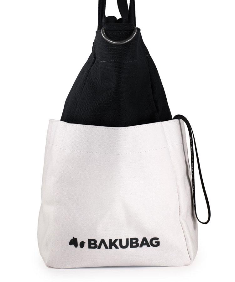 YA ロゴ入り★BAKUBAG(ブラックホワイト)のコーディネート写真