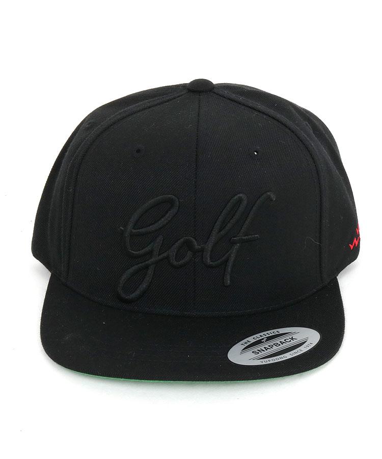 BC 「golf」パネル刺繍Basic平つばキャップのコーディネート写真