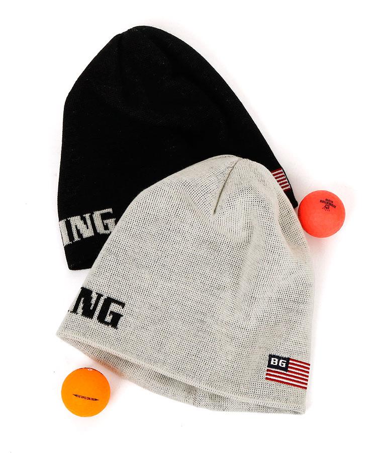 ブリーフィングゴルフ BR ロゴ&Flag入◆Basicニット帽