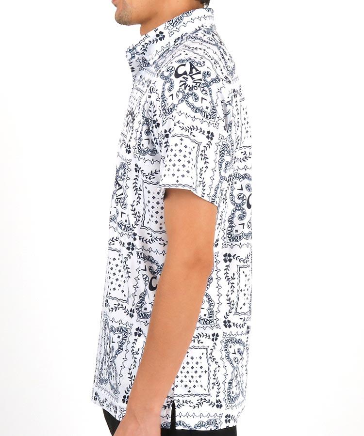 CA バンダナ柄ミニワッフルポロシャツのコーディネート写真