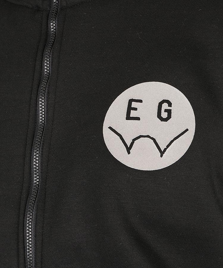 EG 裏起毛スウェットジップブルゾンのコーディネート写真