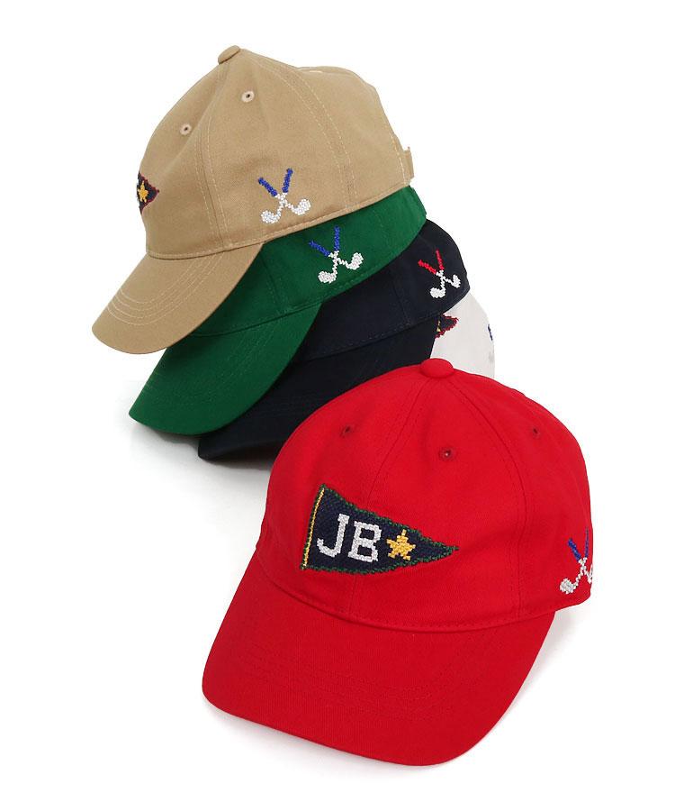 ジャックバニー JB クロスステッチロゴ刺繍♪コットンキャップ