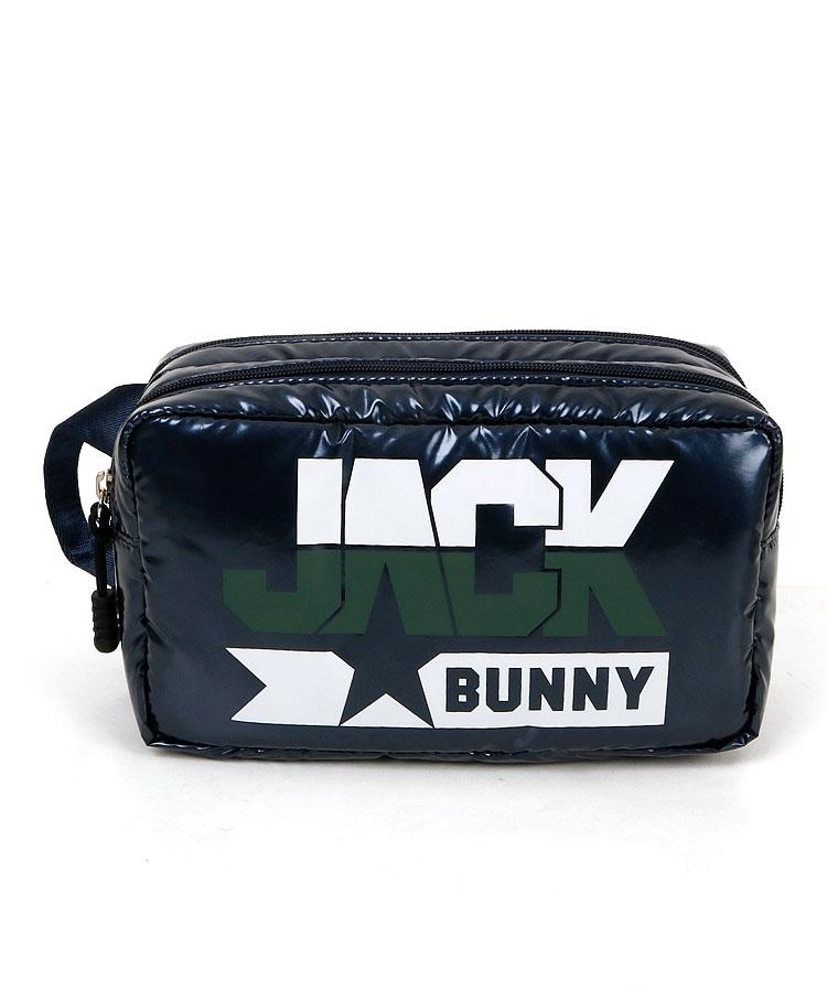 JB 配色ロゴ★エナメル風BOX型2層クラッチバッグのコーディネート写真