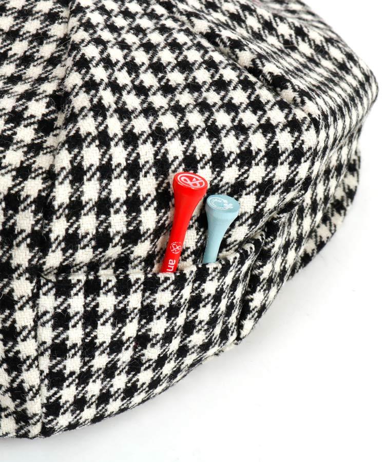 LC 【マルボンゴルフコラボ】千鳥柄キャスケットのコーディネート写真