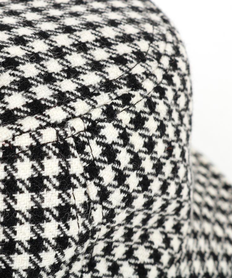 LC 【マルボンゴルフコラボ】千鳥柄バスケットハットのコーディネート写真