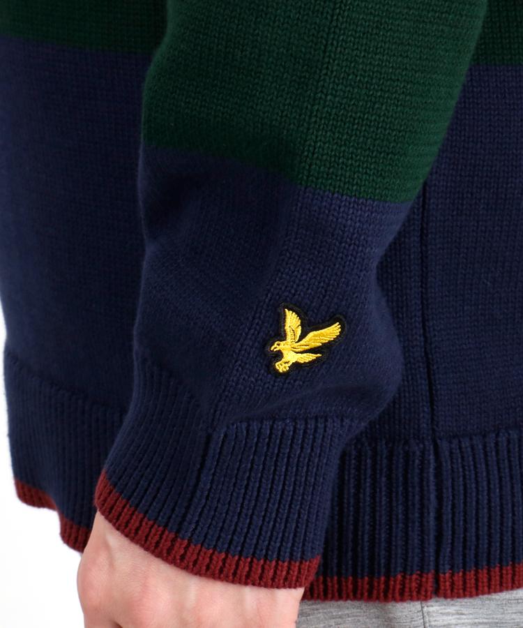 LC 【マルボンゴルフコラボ】ワッペン付ボーダーニットポロシャツのコーディネート写真