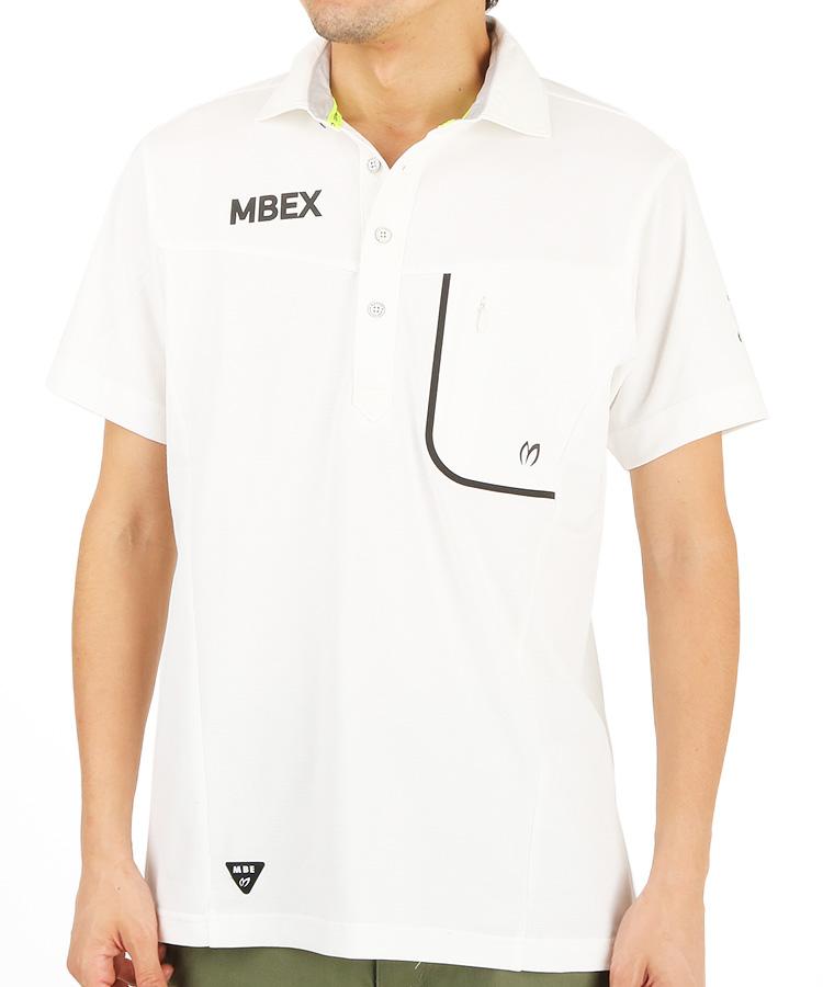 MB 接触冷感メッシュポロシャツのコーディネート写真