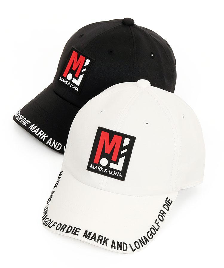 マーク&ロナ ML 「MJ」Boxロゴ◆刺繍入りブリムキャップ