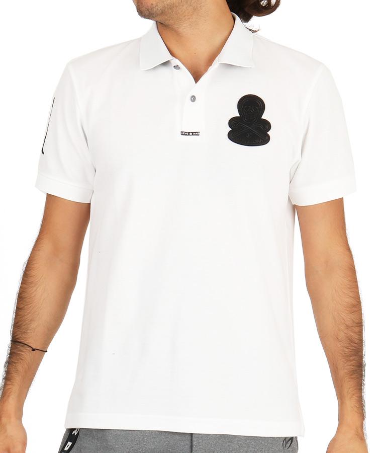ML スカルワッペンポロシャツのコーディネート写真