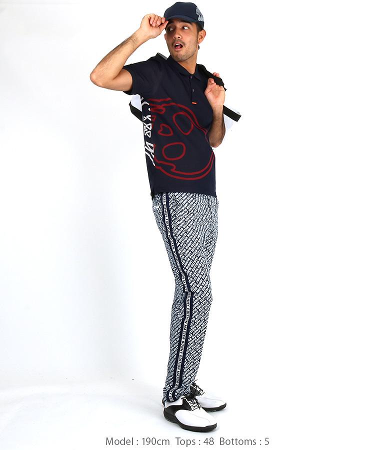 ML BIGラインスカルポロシャツのコーディネート写真