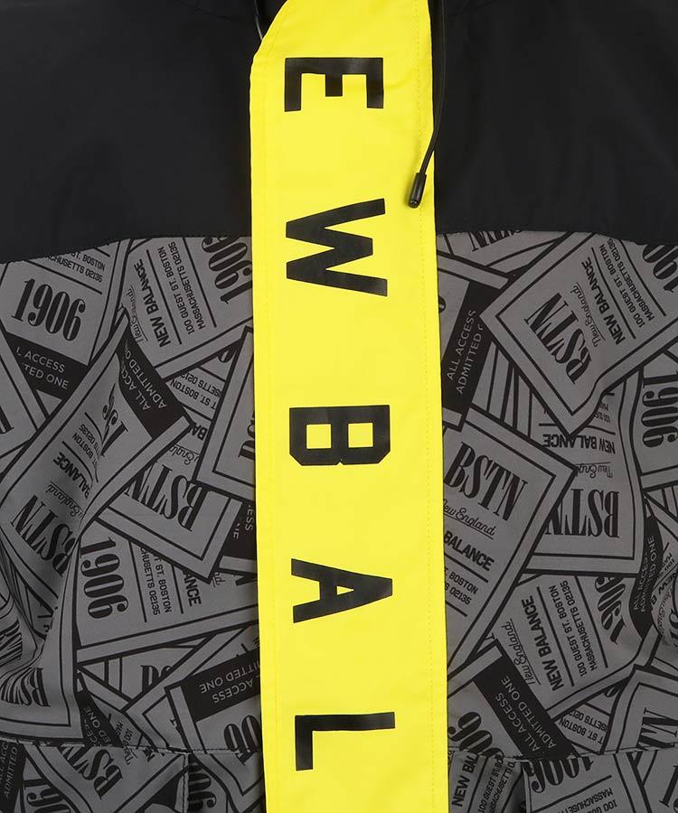 NB チケット柄◆撥水防風ブルゾンのコーディネート写真