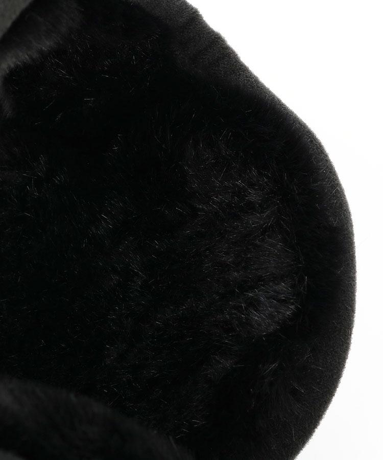 NE 裏ファー♪フリースイヤーマフ(ブラック)のコーディネート写真
