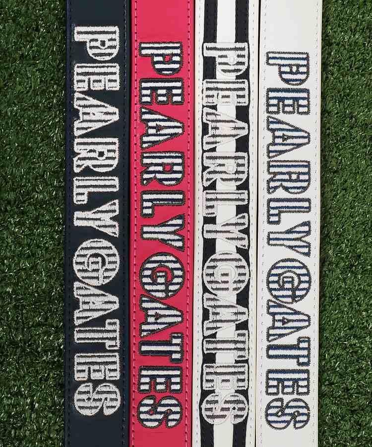PG Stripeロゴ刺繍リング型バックルレザーベルトのコーディネート写真
