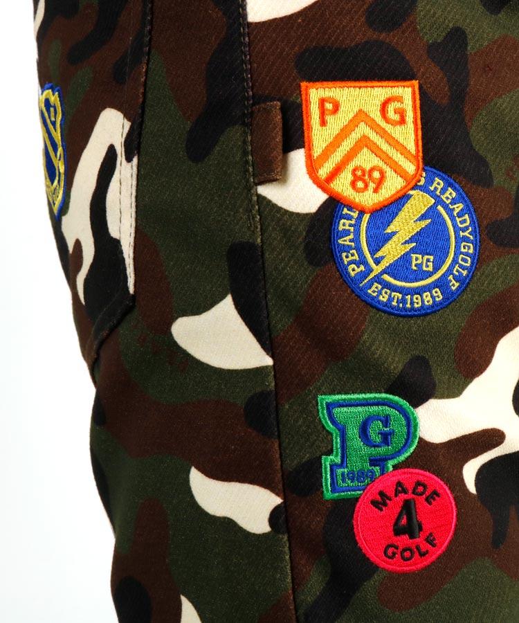 PG ワッペン付きカモフラパンツのコーディネート写真