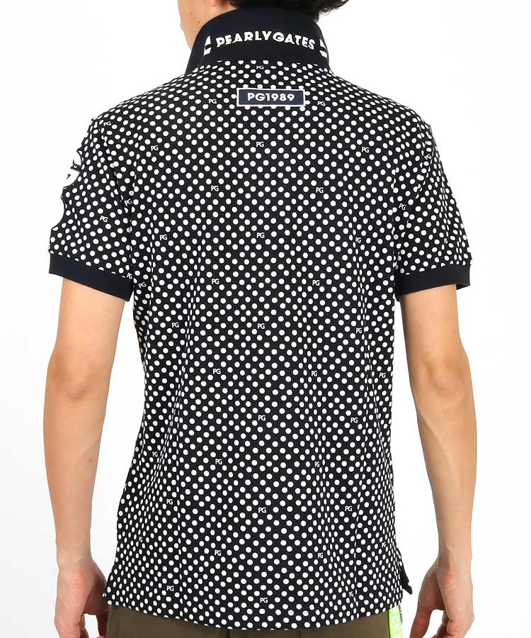 PG 総ドット柄ポロシャツのコーディネート写真