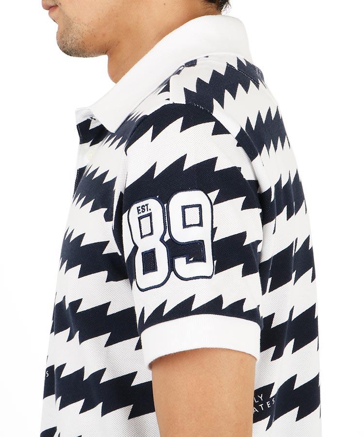 PG 波ボーダーポロシャツのコーディネート写真