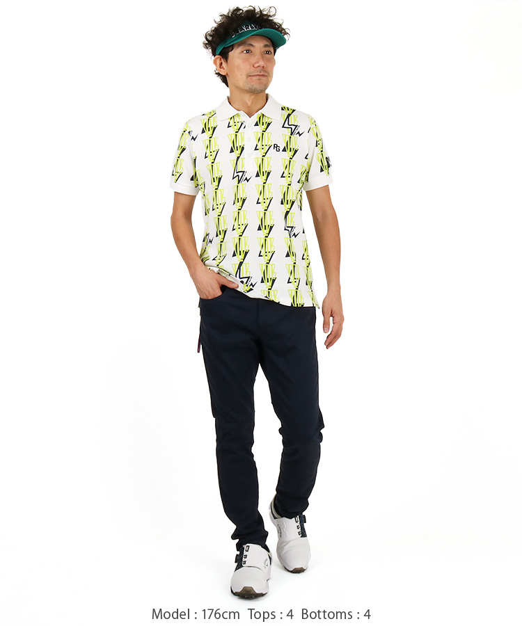 PG メガホンプリント◆ポロシャツのコーディネート写真