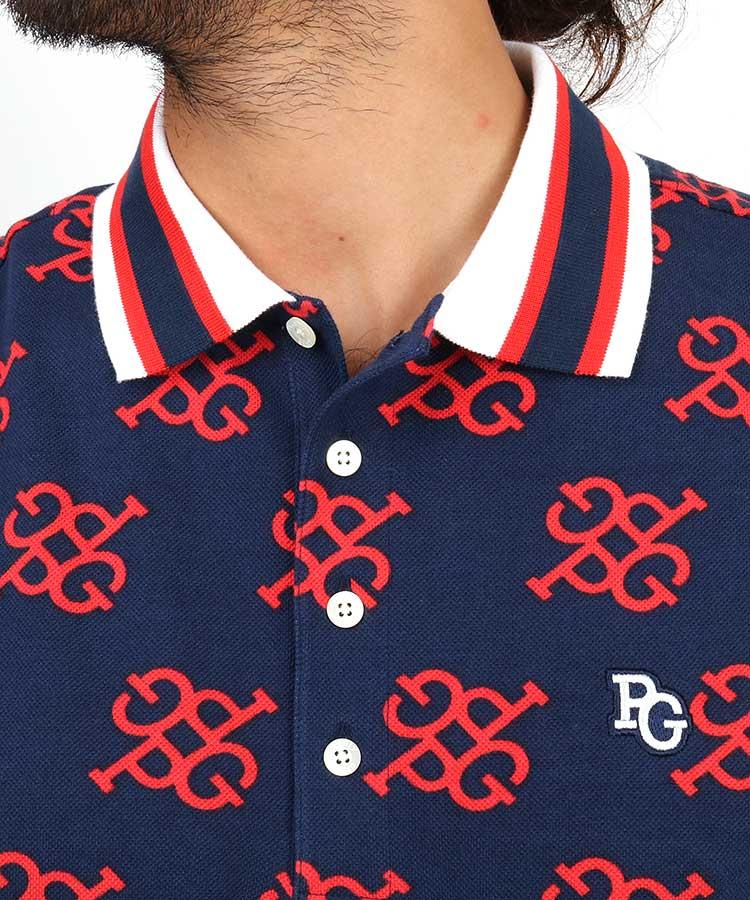 PG PGビッグモノグラムポロシャツのコーディネート写真