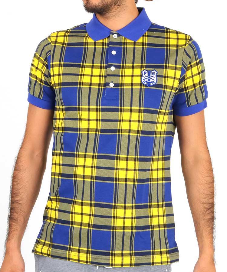 パーリーゲイツ PG マドラスチェック柄ポロシャツ
