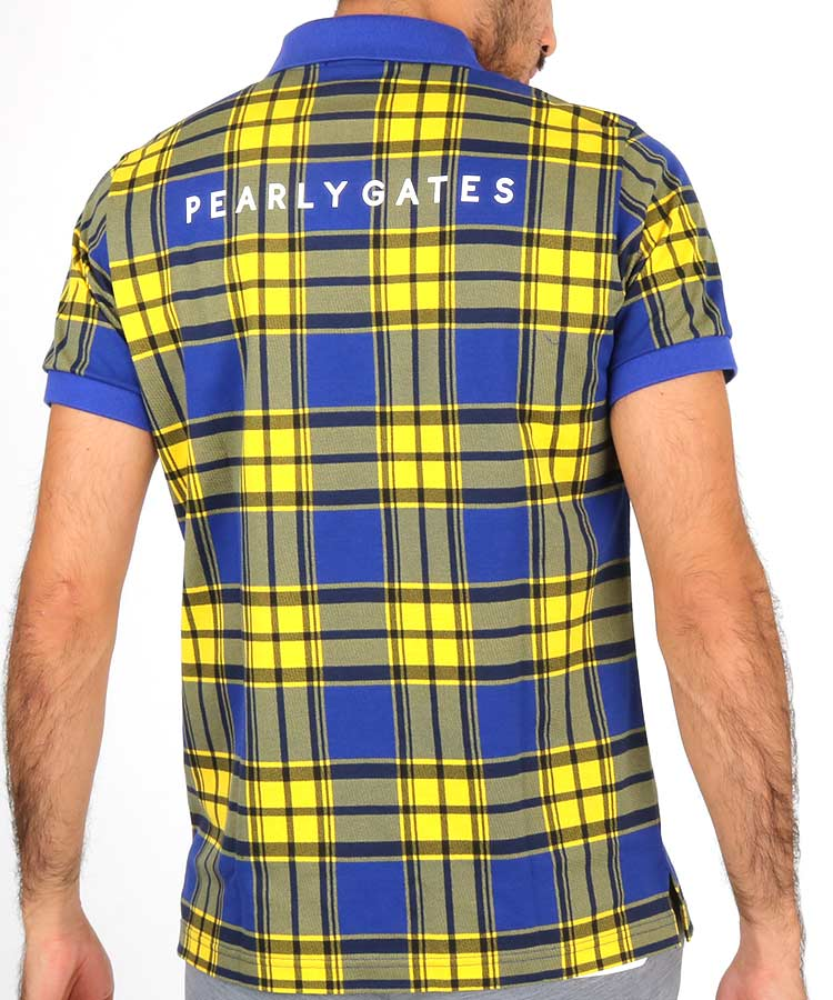 PG マドラスチェック柄ポロシャツのコーディネート写真