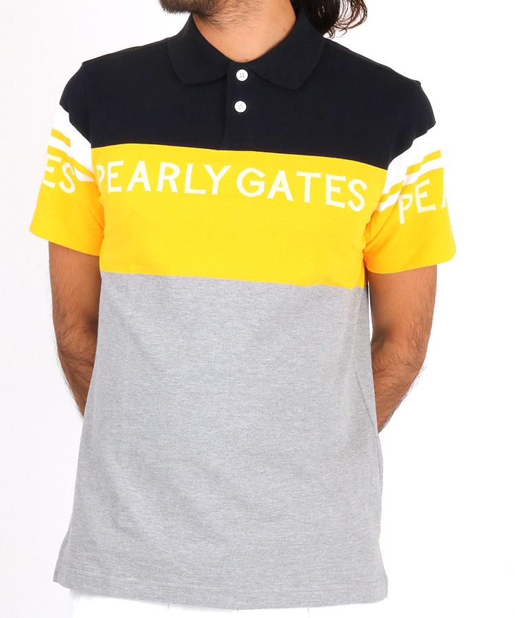 パーリーゲイツ PG 3色切り替しボーダーポロシャツ
