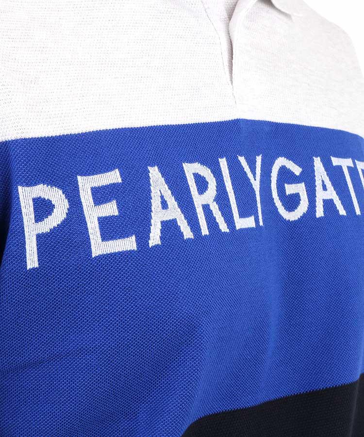 PG 3色切り替しボーダーポロシャツのコーディネート写真