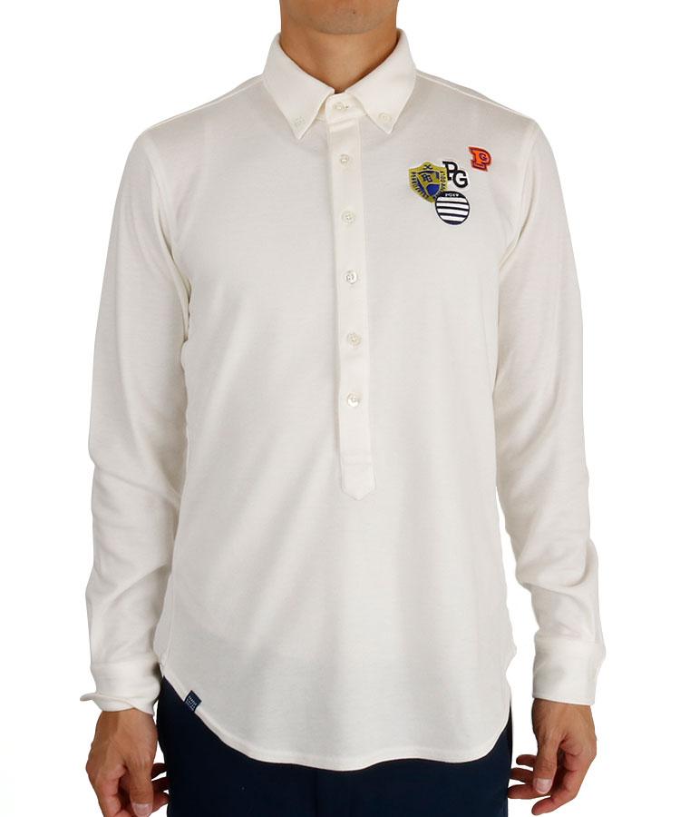 パーリーゲイツ PG 吸湿発熱ストレッチ鹿の子ポロシャツ