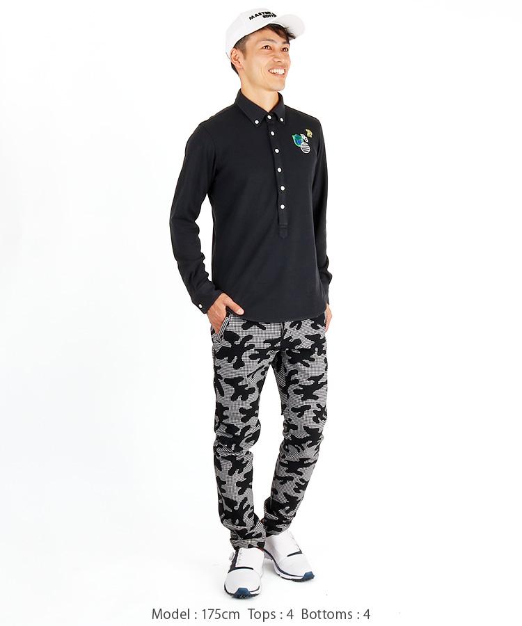 PG 吸湿発熱ストレッチ鹿の子ポロシャツのコーディネート写真