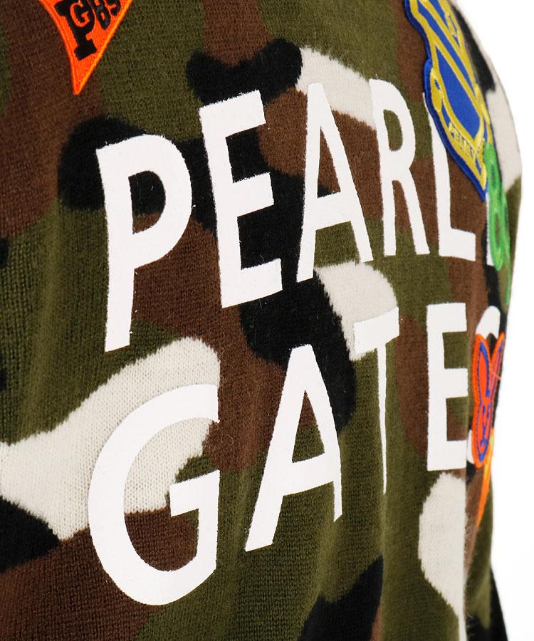 PG ワッペン付きカモフラニットのコーディネート写真