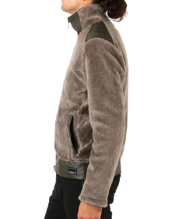 RD ボア×フェイクレザージャケットのコーディネート写真