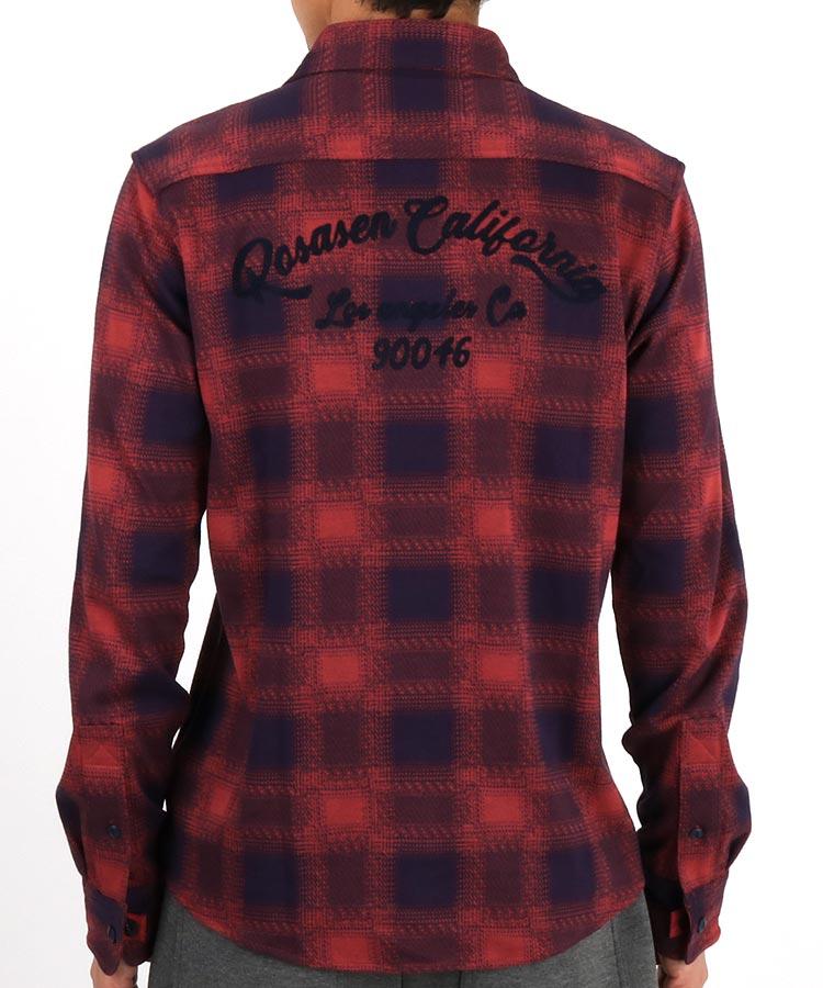 RO ネル風チェックシャツのコーディネート写真