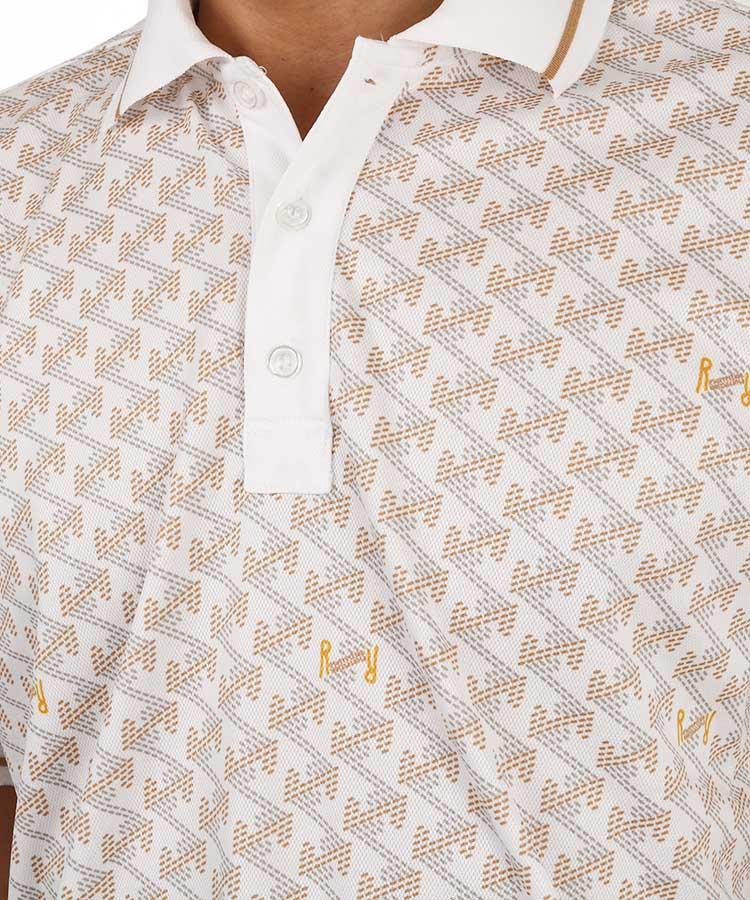 RR オリジナルテキストタイル柄ポロシャツのコーディネート写真