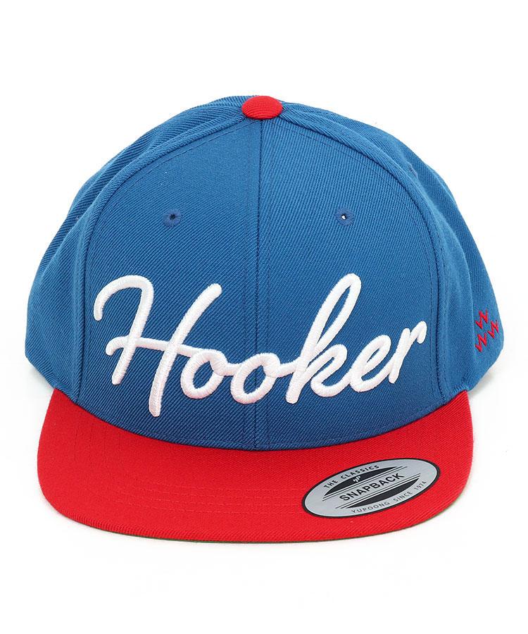 BC 配色Hooker平つばキャップのコーディネート写真