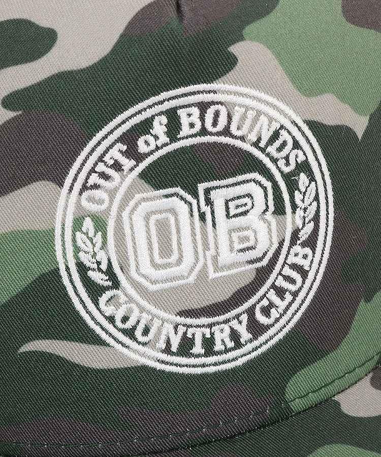 BC カモフラ柄OBロゴキャップのコーディネート写真