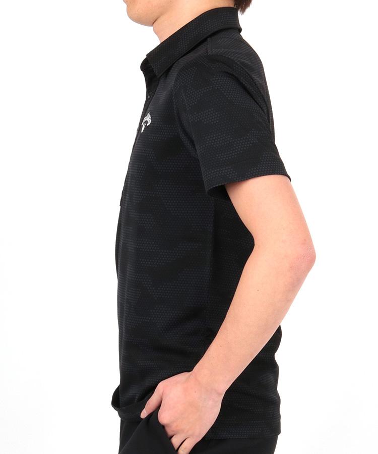 CA シェブロンカモフラ冷感ポロシャツのコーディネート写真