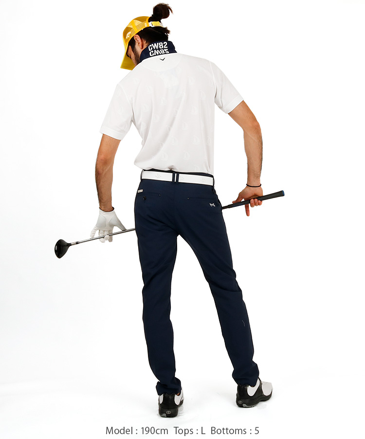 CA エンボスヨット柄ポロシャツのコーディネート写真