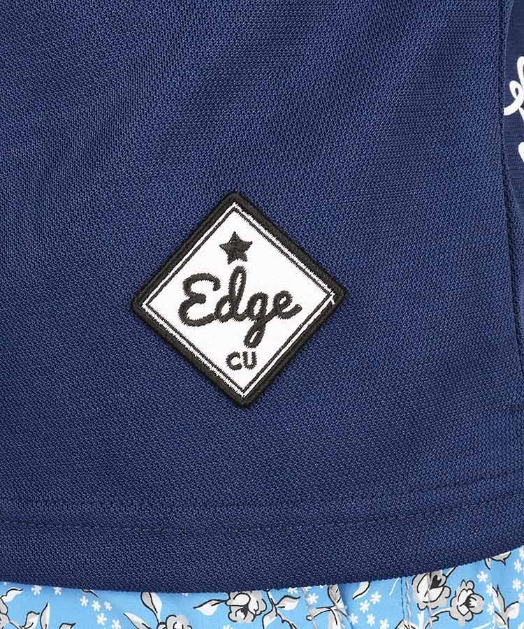 CU 【Edge】カモフラ柄ワッペン♪鹿の子ポロのコーディネート写真