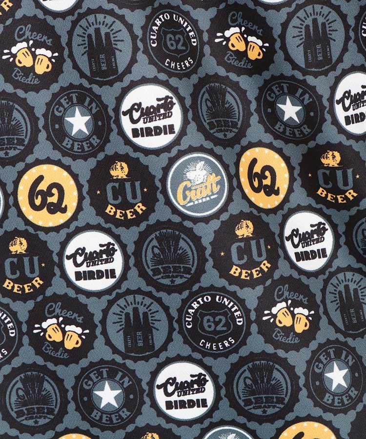 CU 【Edge】Beerキャップ総柄UVドライポロのコーディネート写真