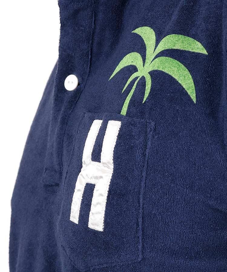 HO ポケットヤシの木◆パイル地ポロのコーディネート写真