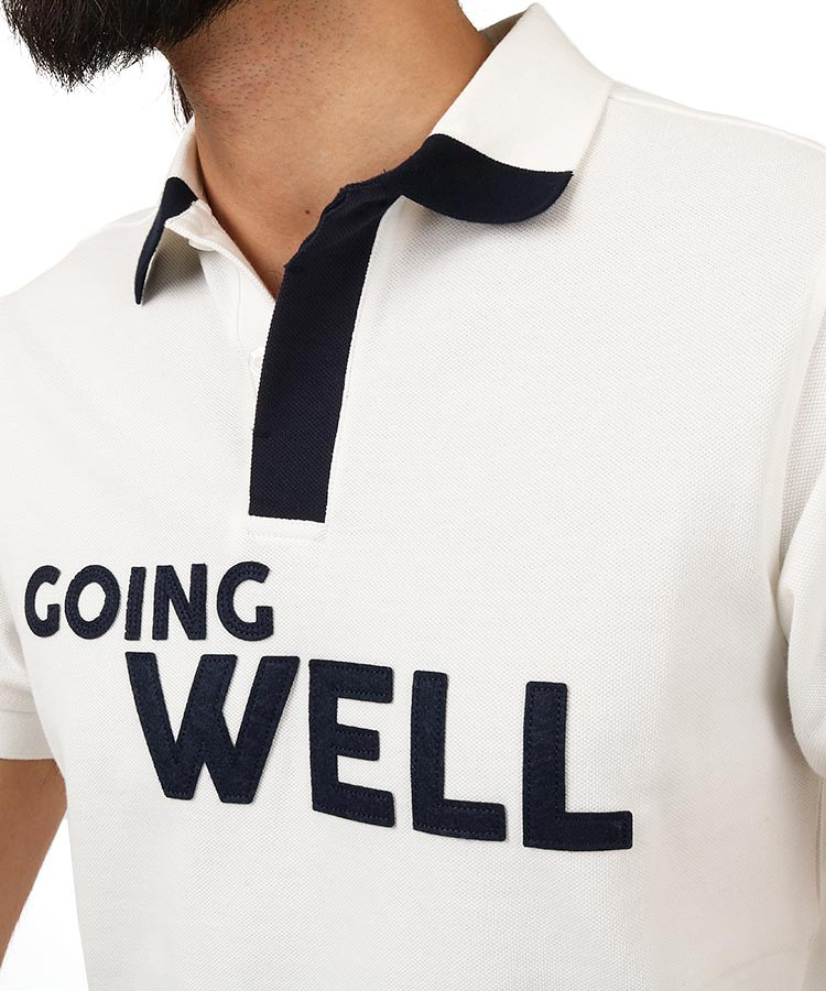 JB GoingWellレタリングワッペンポロのコーディネート写真