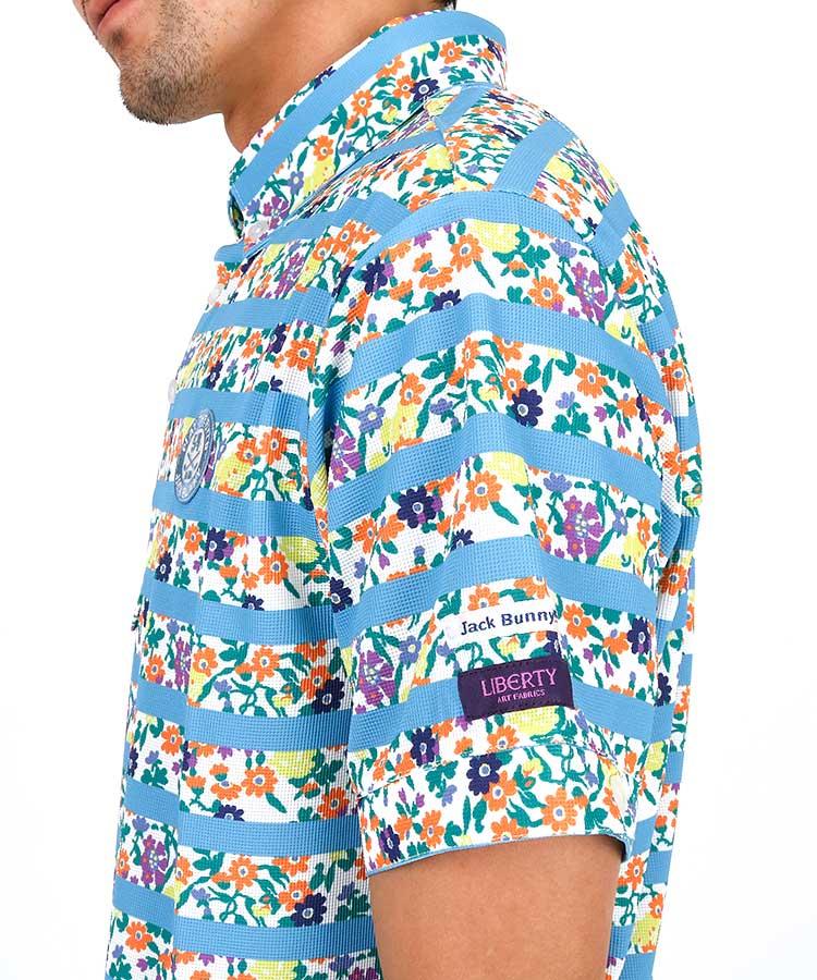 JB 花柄&ボーダー◆吸水速乾ポロシャツのコーディネート写真