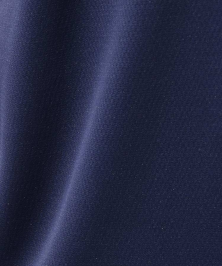 JR 衿ジャガード◆スリムフィット半袖ポロのコーディネート写真