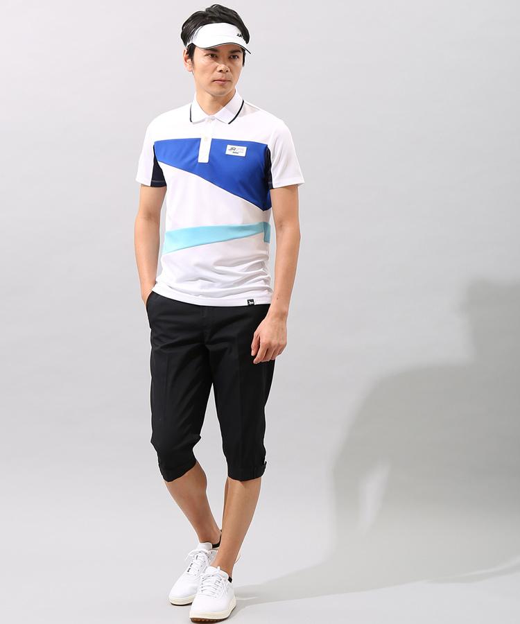 JR カラーブロック切替ポロシャツのコーディネート写真