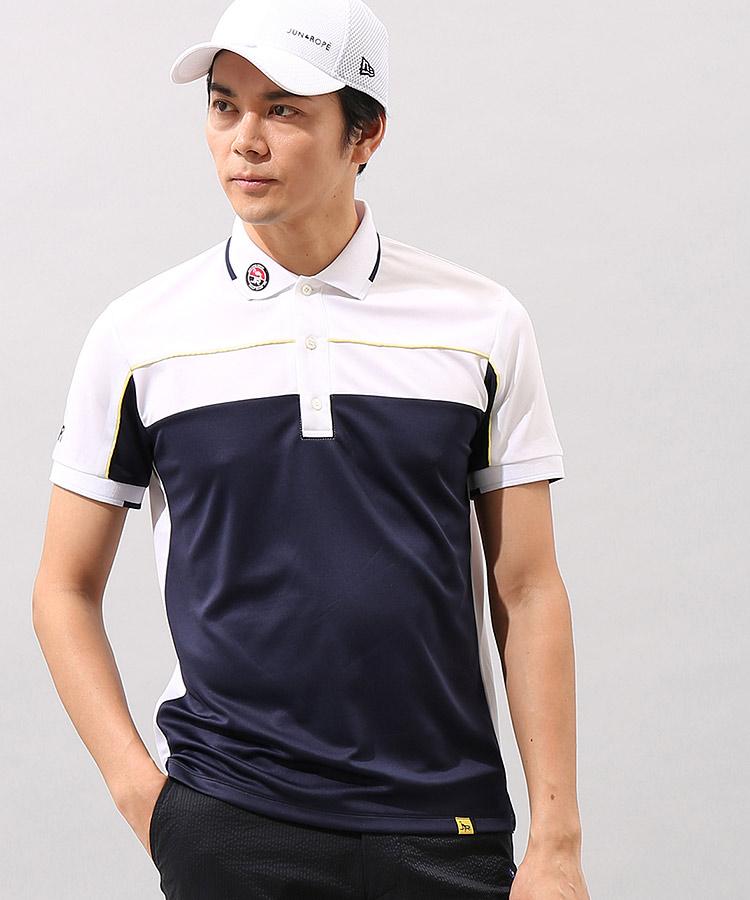 JR バイカラー半袖ポロシャツのコーディネート写真