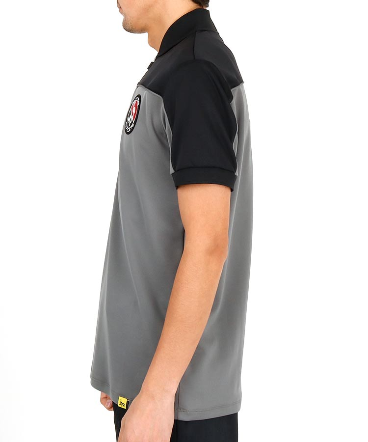 JR カラーブロックZipUp半袖カットソーのコーディネート写真