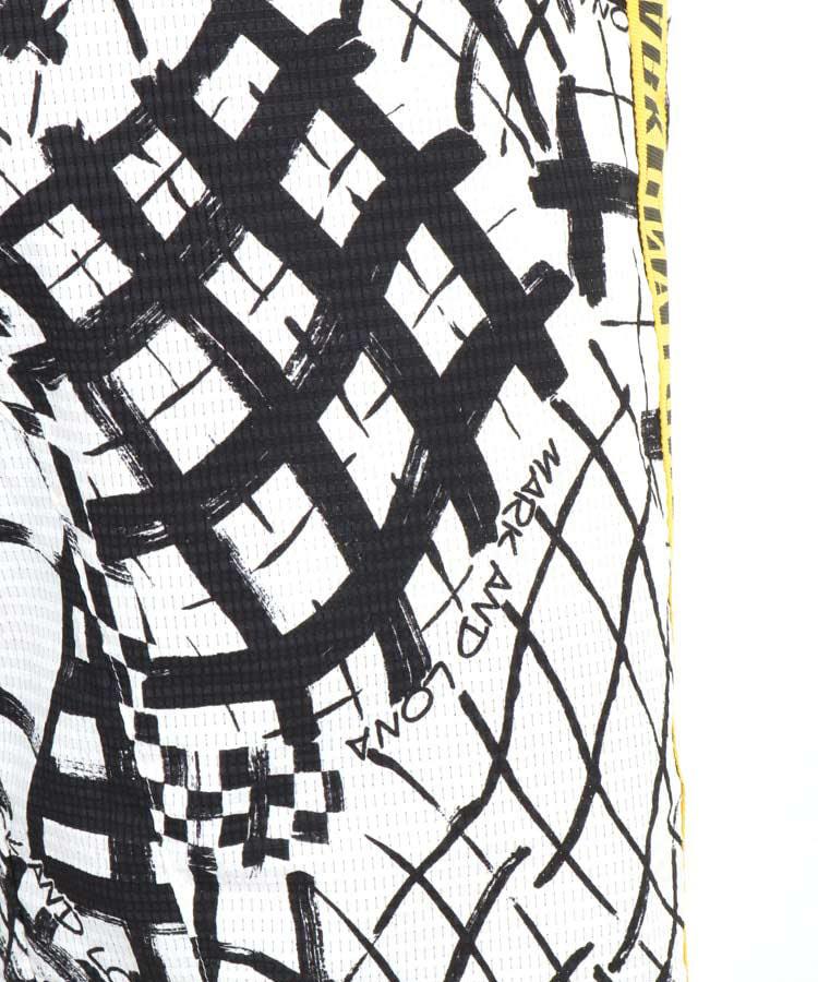 ML ハンドペイント風◆サイドラインハーフパンツのコーディネート写真