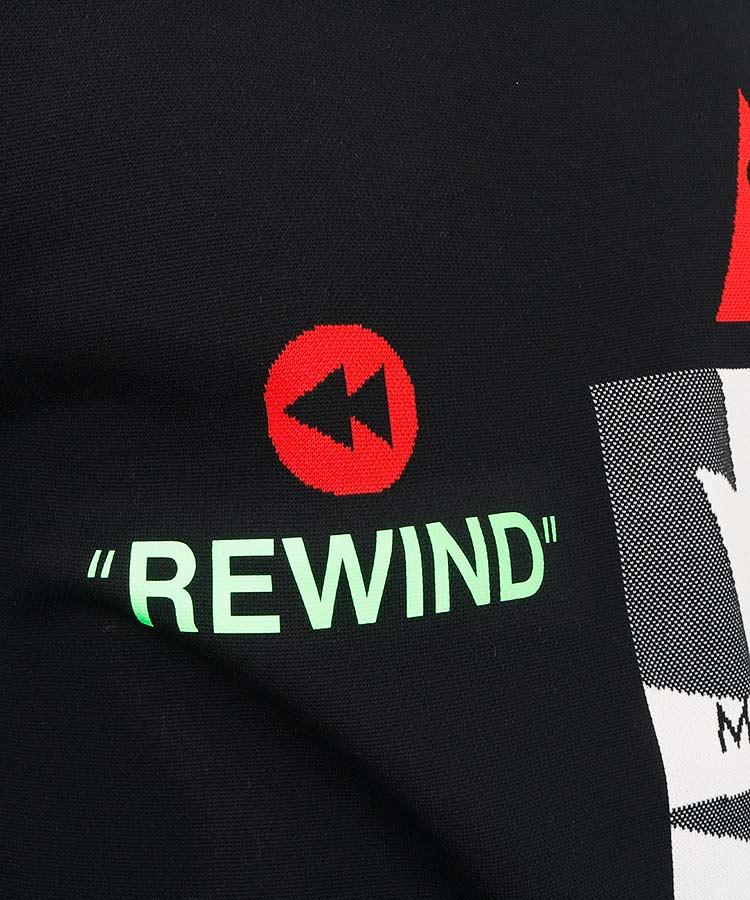 ML 【カタログ掲載】REWINDバックスカルポリニットのコーディネート写真