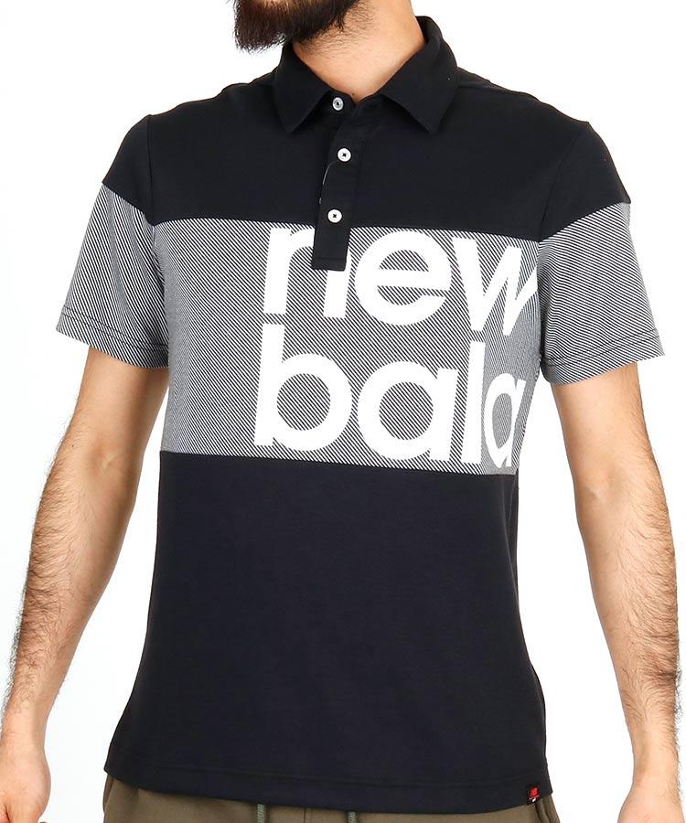 ニューバランスゴルフ NB バイアスストライプ◆ポロシャツ