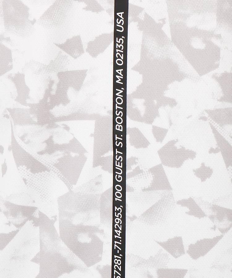 NB 雲柄プリントポロシャツのコーディネート写真