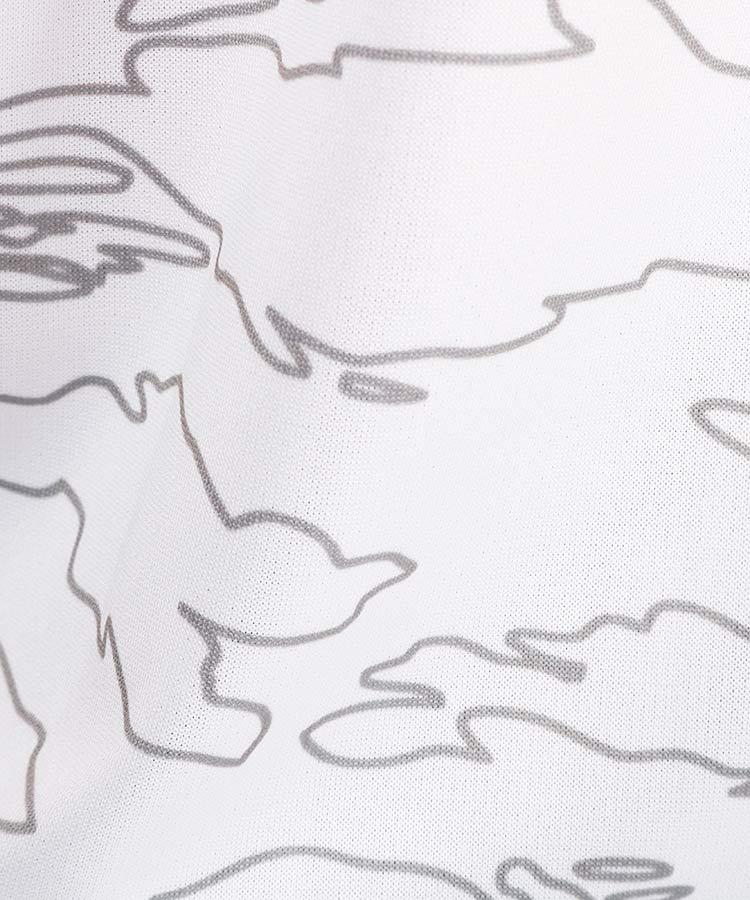 NE ラインカモフラ高機能ポロ_ホワイトのコーディネート写真